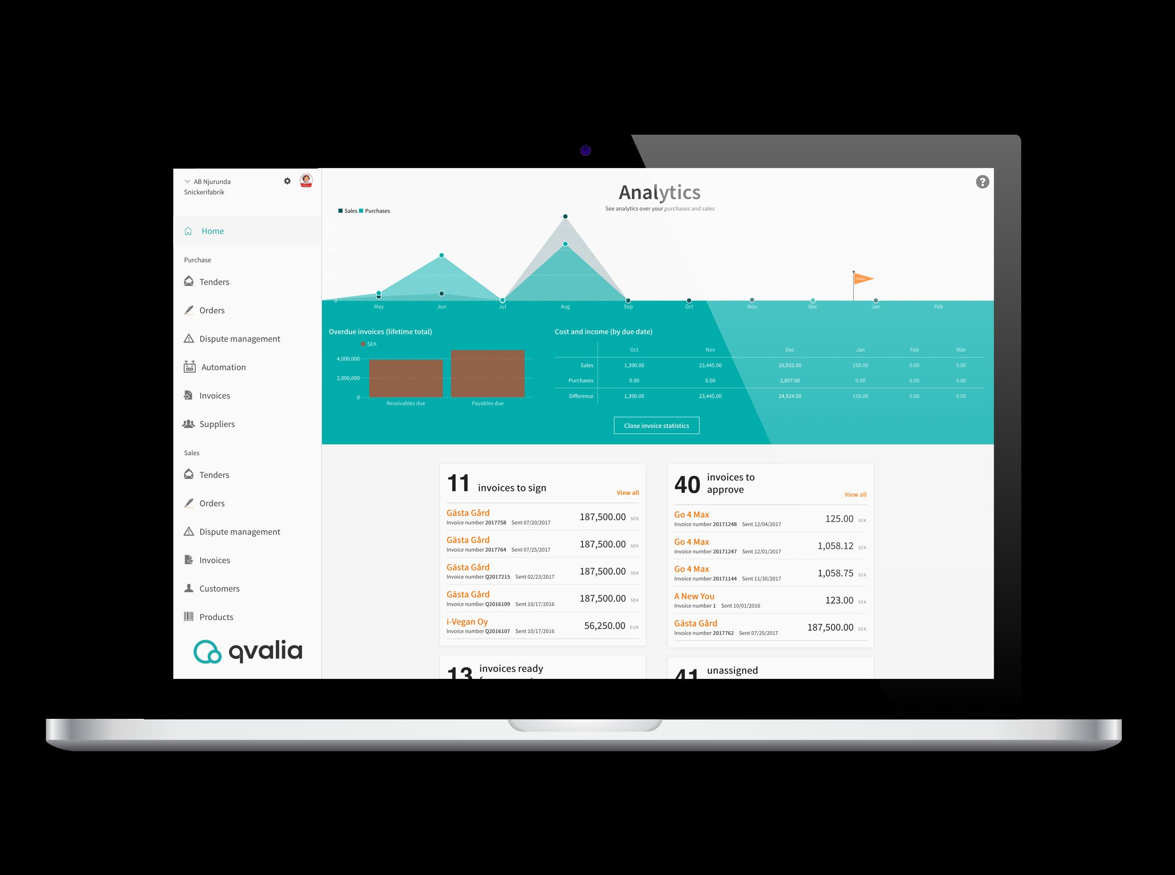 Qvalia software transaction automation4